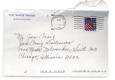 Jan Craig White House Letter